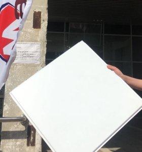 Кассеты для подвесного потолка Армстронг белый мат