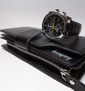 Мужское портмоне и часы