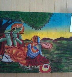 Картины на ткани (батик) с Индии
