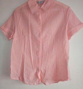 Новая блузка 48 хлопок марлевка