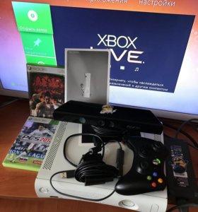 XBOX 360 + Kinect + 2 игры