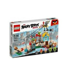 Лего Разгром Свинограда. Lego Angry Birds
