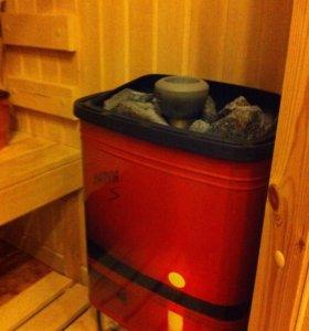 Финская печь и дверь для сауны