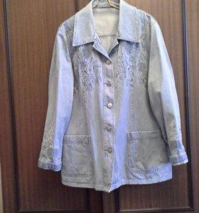 Джинсовая куртка 50 р-р