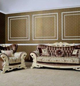 Новый комплект мягкой мебели