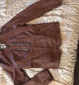 Куртка кожаная размер 52