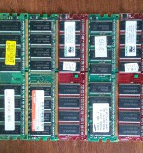 DDR-400 pc-3200 1Gb, 512Mb, 256Mb