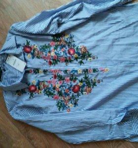 Рубашка с вышивкой. Новая!!! С биркой