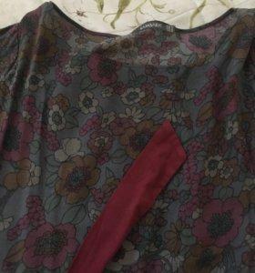 Платье с бархатным поясом