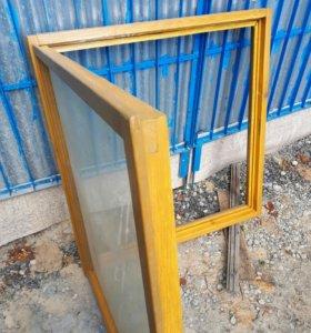 Окно деревянное, однокамерный стеклопакет