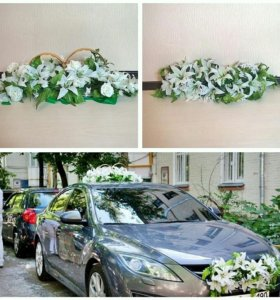 Украшения автомобиля на свадьбу