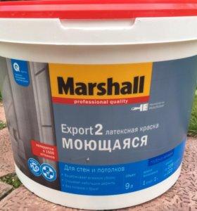 Краска латексная для стен и потолков Marshall 9л