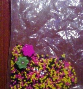 Бисер и цветочки.