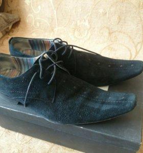 Туфли нат. замша, р.43