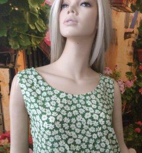 ИТАЛИЯ блузка летняя прямого покроя.
