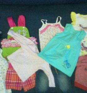 Пакет одежды для девочки от 6 мес до года