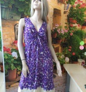 Шёлк 100%. Платье лавандового цвета