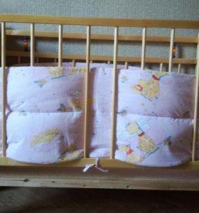 Детская кровать+комод-пеленальник