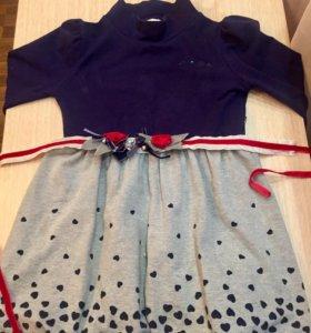 Платье на девочку 6-7 лет.