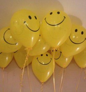 Воздушные шарики смайл смалики улыбки