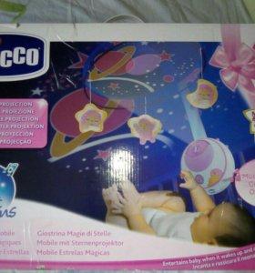 """Мобиль для кроватки""""Волшебные звезды""""Chicco"""