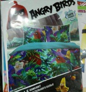 """Постельное белье 1,5 спальное """"Angry birds"""""""
