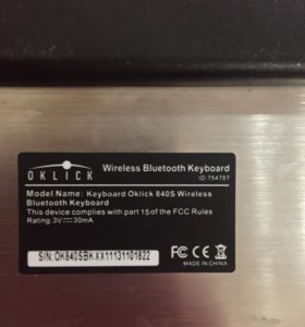 Oklick 840S Wireless Keyboard Black Bluetooth