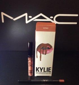 Жидкая матовая помада от Kylie+карандаш