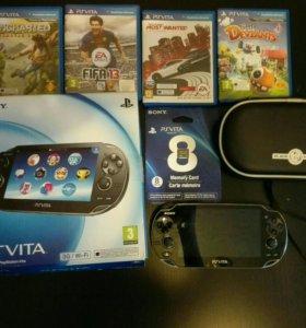 Ps Vita 8GB 3G/WiFi+4 игры+чехол