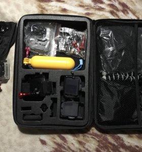 Экшен камера sjcam sj5000 wifi с доп оборудованием