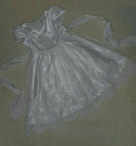 Кружевное платье р-р 92-104