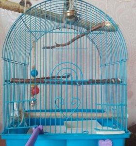 Клетка для попугая + ванночка