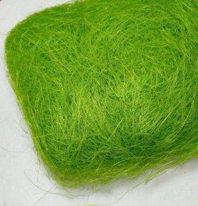 Волокно сизаля 100г зеленое яблоко