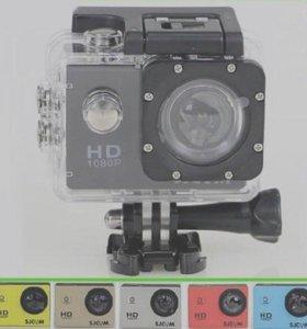 Продам классную экшн камеру фулл HD 1080 недорого!