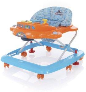 Новые Ходунки Tom&Mary Baby Care голубой/оранжевый