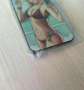 Iphone 4 4s стекло + накладка айфон