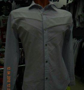 мужские рубашки (длинный рукав стрейч)
