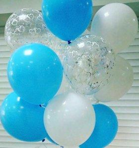 Оформление шарами Гелиевые шары С Конфетти
