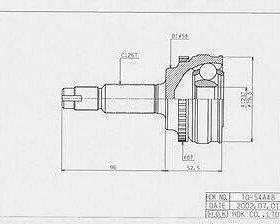 Шрус наружный TO-54A48 H.D.K с кольцом ABS