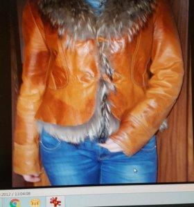 Курточка из натуральной кожи