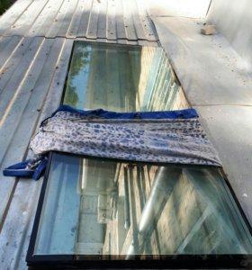 Стекло на рламтиковое окно
