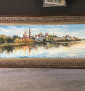 """Картина маслом """"Новодевичий монастырь """""""