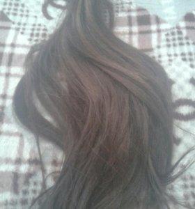Натуральные волосы 50см.