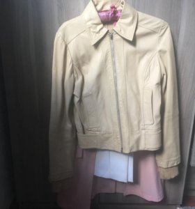 Кожаная куртка Pennypull светлого цвета