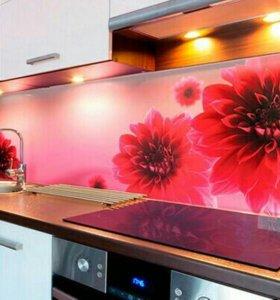Кухонные фартуки хдф, разноцветные, бесшовные