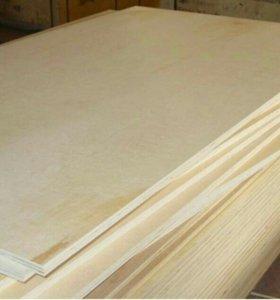 Фанера из сосны, лист 1220х2440, 6мм