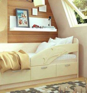 Кровать Дельфин с бортом