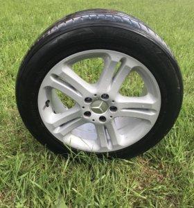 4 колеса в сборе на Mercedes-benz w220