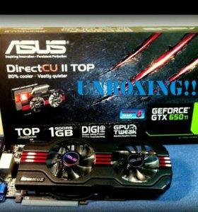 Продам GTX 650Ti DirectCU2 OC 1Gb. НОВАЯ