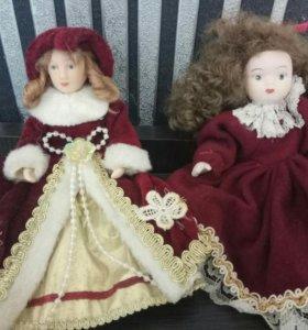 2 фарфоровые куклы